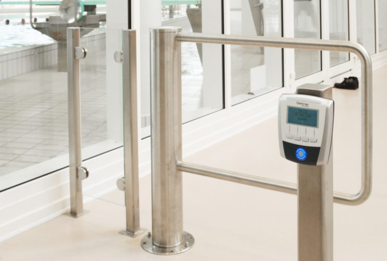 Contactless readers at reception