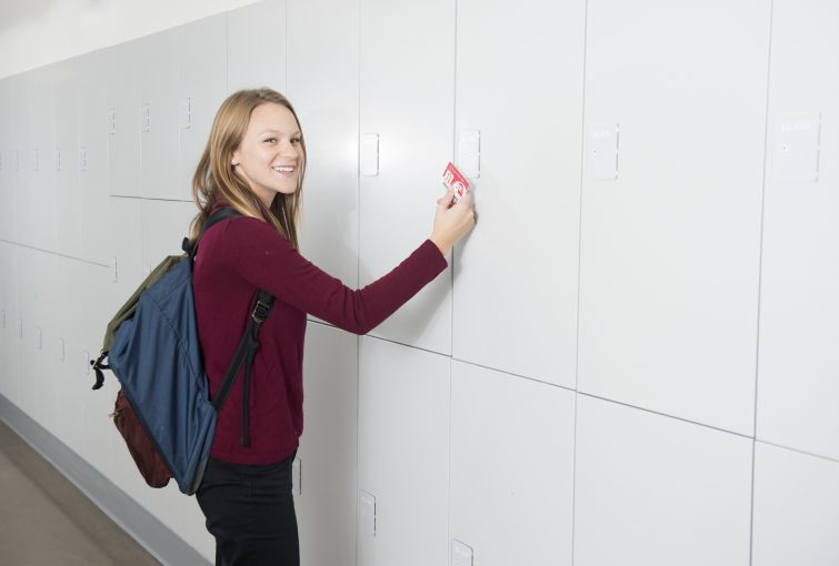 Secure and smart locker storage for universities