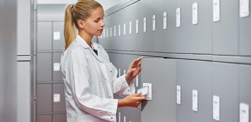 High security access and locker storage is essential for hospitals