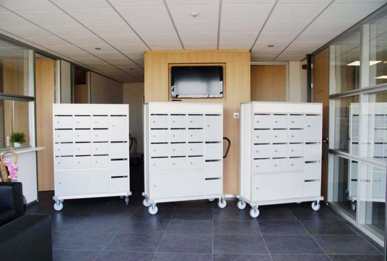 Secure, lockable mobile drug cabinets
